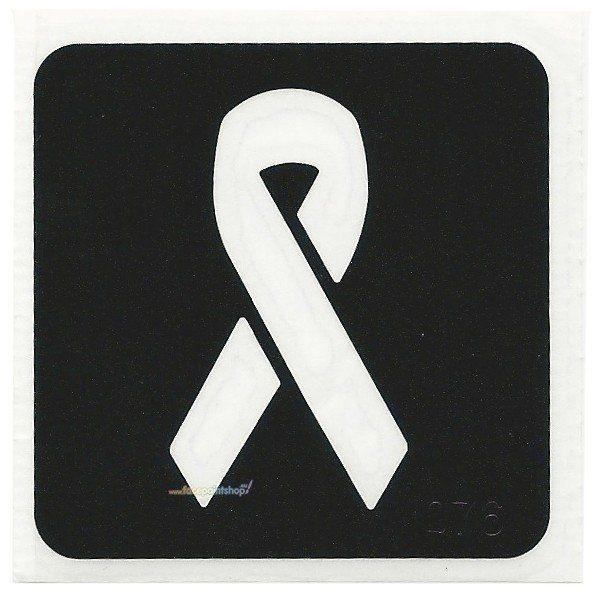 Glittertattoo Sjabloon Awareness Ribbon (5 pack)