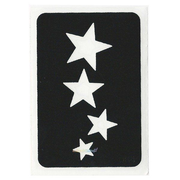 Glittertattoo Stencil Cascading Stars (5 pack)