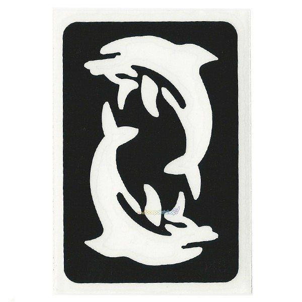 Glittertattoo Sjabloon Dancing Dolphins (5 pack)