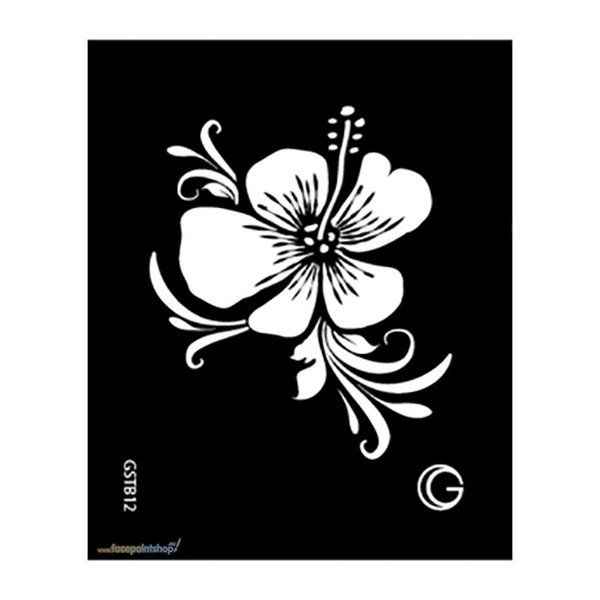 Hibiscus Hd Stencil