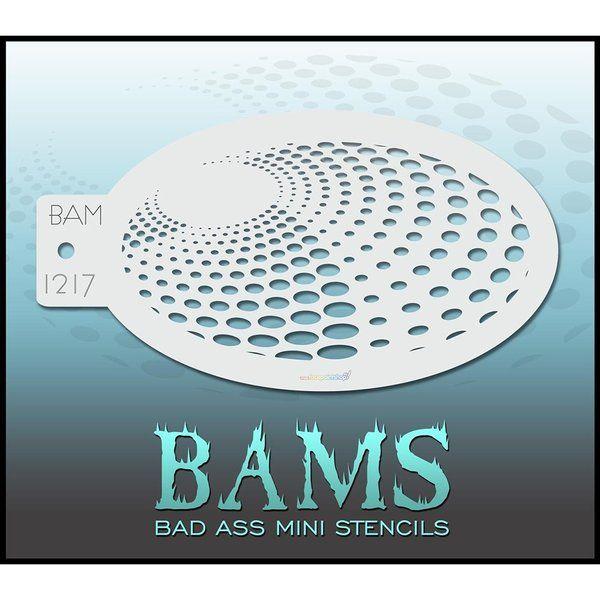 Bad Ass Bams FacePaint Stencil  1217