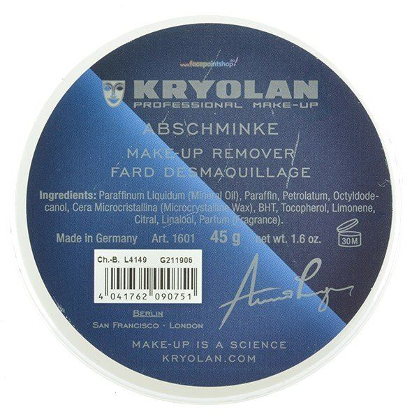 Kryolan Make-Up Remover 45gr