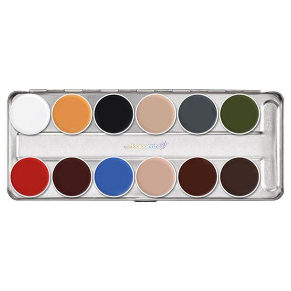 Kryolan Supracolor Greasepaint B Palette 12 Kleuren