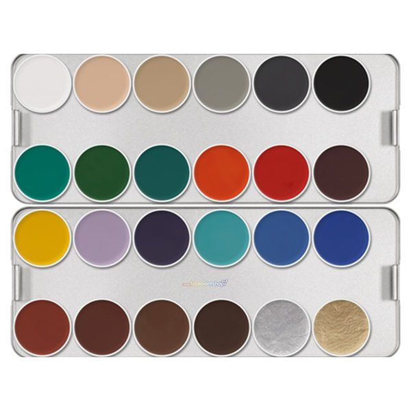 Kryolan Aquacolor K Basic Palette 24 Colors