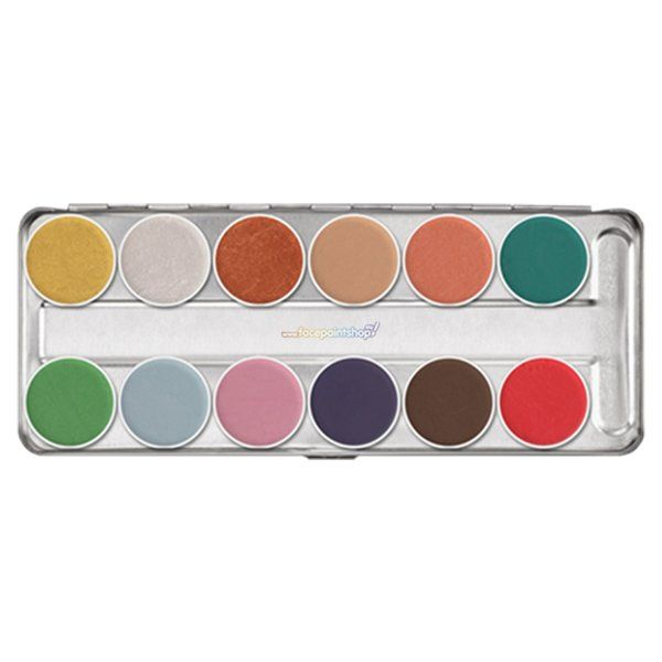 Kryolan Aquacolor Interferenz palette 12 colors