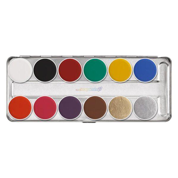 Kryolan Aquacolor Sn 12 KleurenSchmink Palette