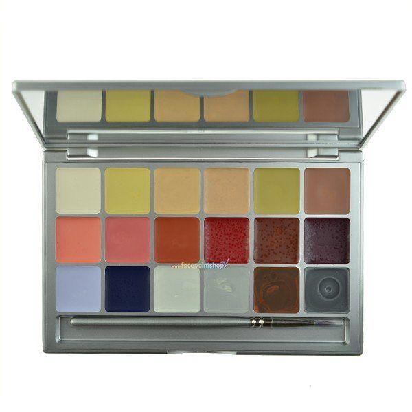 Kryolan Coloring Palette Vision 18 Colors Stage