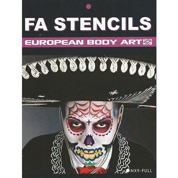 Airbrush/Facepaint Sugar Skulls Stencils