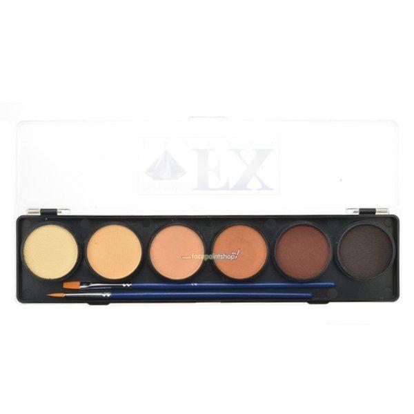Diamond Fx Skin-Tones Palette 6 Colors