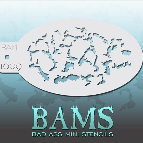 Bad Ass Bams FacePaint Stencil 1009