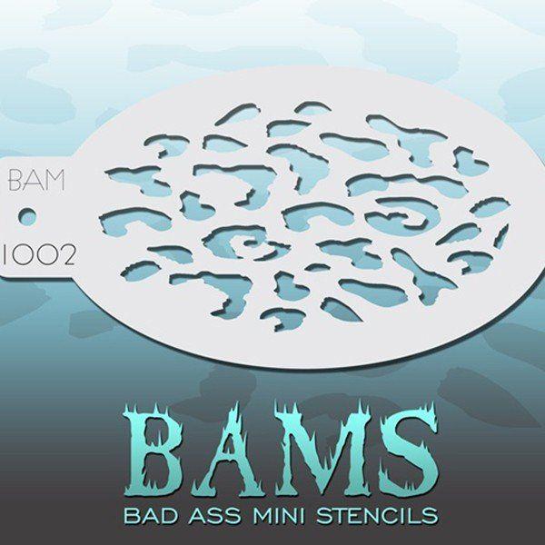 Bad Ass Bams FacePaint Stencil 1002