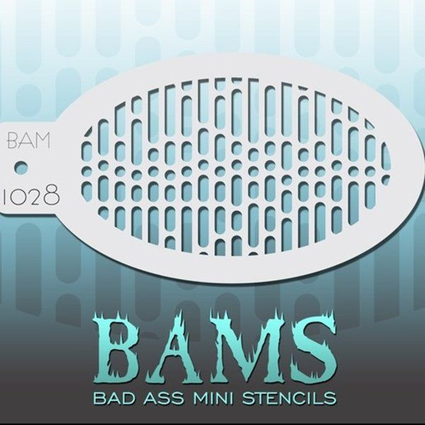 Bad Ass Bams FacePaint Stencil 1028
