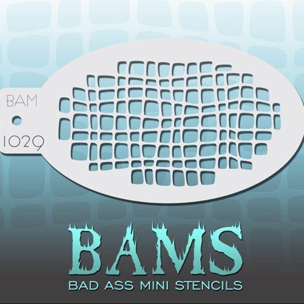 Bad Ass Bams FacePaint Stencil 1029