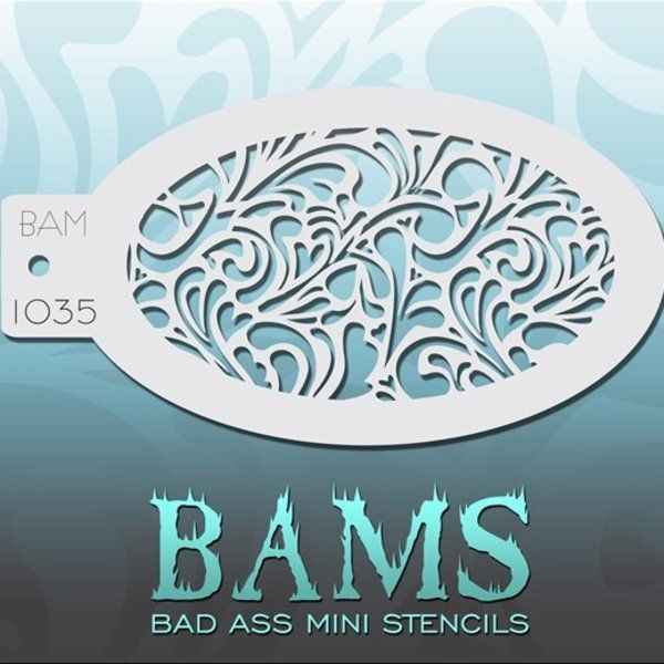 Bad Ass Bams FacePaint Stencil 1035