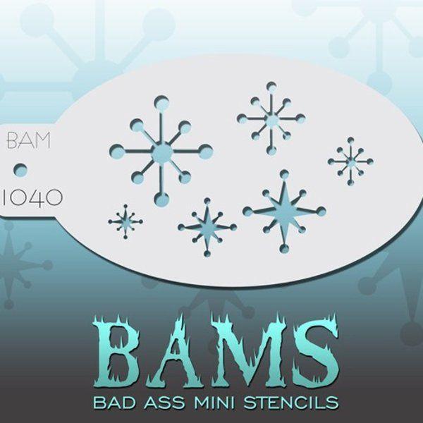 Bad Ass Bams FacePaint Stencil 1040
