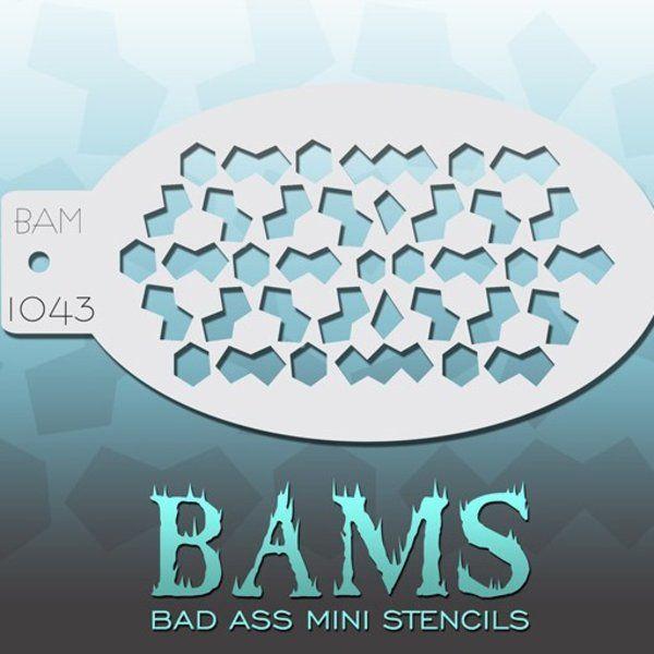 Bad Ass Bams FacePaint Stencil 1043