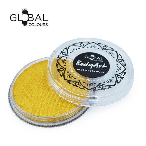 Global Face & Body Paint Metallic Goud 32gr
