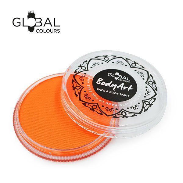 Global Face & Body Paint Neon Orange 32gr