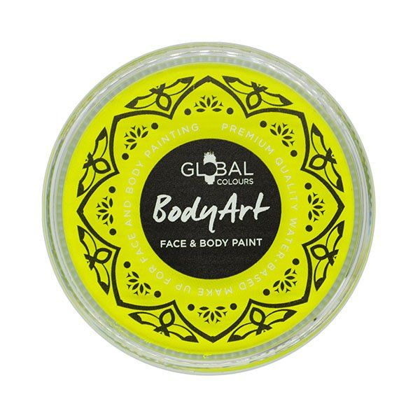 Global Face & Body Paint Neon Yellow 32gr