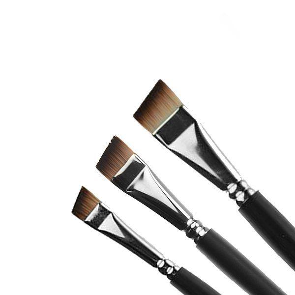 Facepaintshop Angular Schmink Penselen Set 3pc