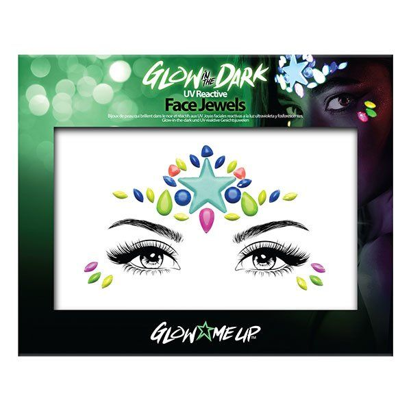 Glow In The Dark Face Jewels Style 1