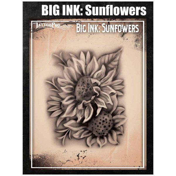 Wiser Airbrush Tattoo Sunflowers