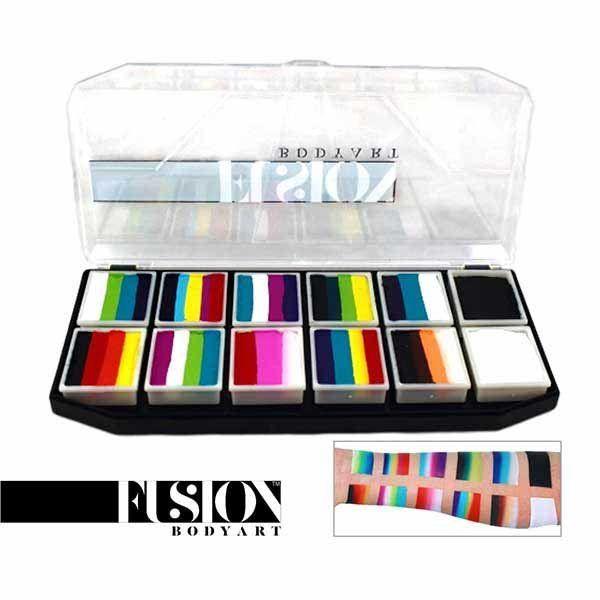 Fusion Body Art Rainbow Explosion Palette
