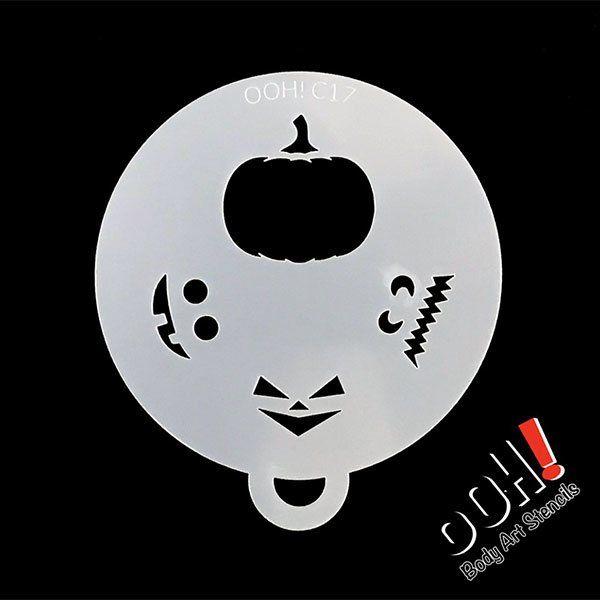oOh Body Art Pompoen Stencil C17