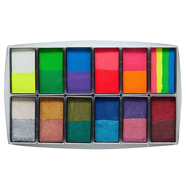 Global All You Need Bright & Shiny Schmink Palette 12 Pack