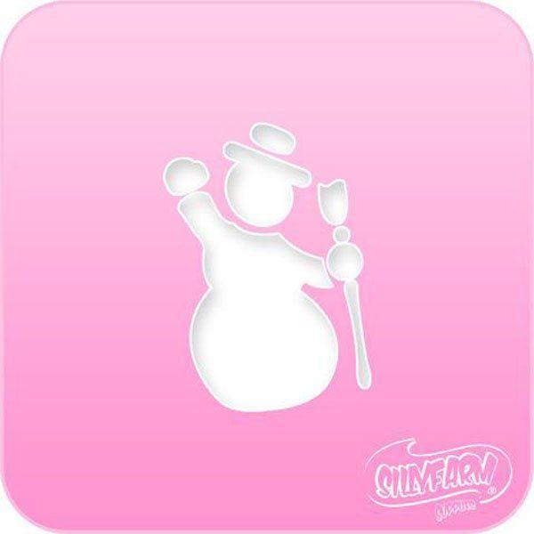 Schminksjabloon Sillyfarm Sneeuwpop