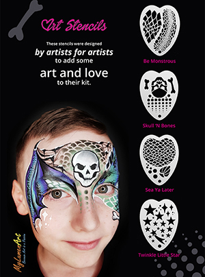 New ! Art Facepaint Stencils