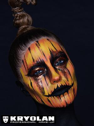 Kryolan Pumpkin Girl Halloween Tutorial
