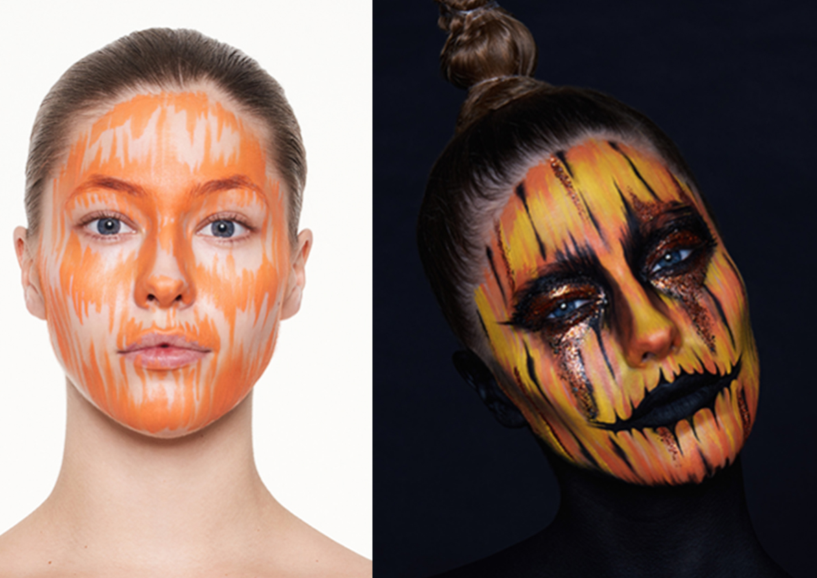 Kryolan Pumpkin Girl Halloween Tutorial