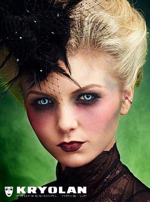 KRYOLAN VAMPIRE GIRL HALLOWEEN TUTORIAL
