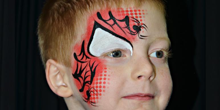 Wonderbaarlijk Stap-voor-stap Spiderman - Facepaintshop PH-91