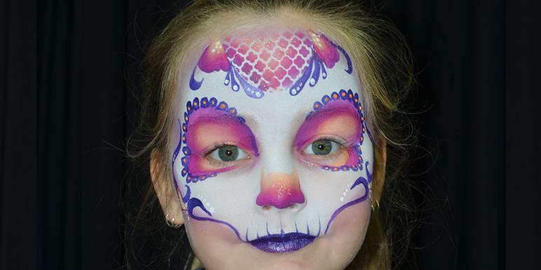 Betere Stap-voor-stap Sugar Skull - Facepaintshop YT-97
